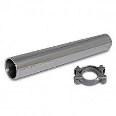 Original style exhaust tip with bracket - Stainless Steel - Vintage Speed